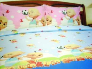 Sprei dan Bed Cover Seri Upin Ipin